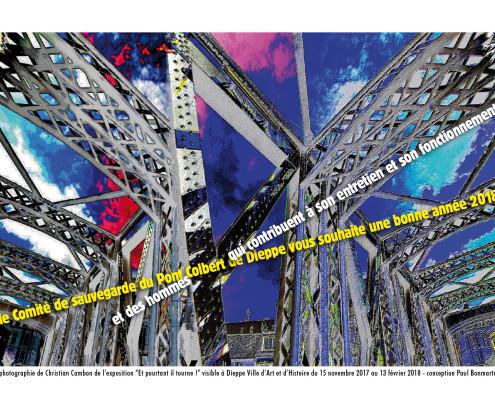 """conception Paul Bonmartel - Photo de Christian Cambon de l'exposition et """"Pourtant il tourne"""""""